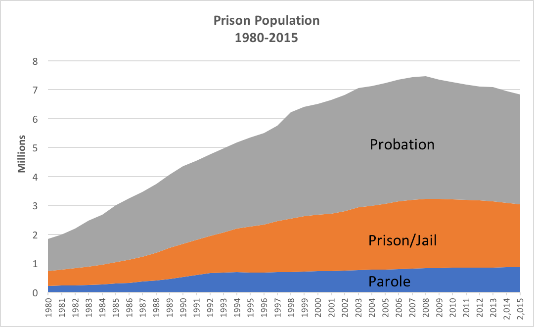 a overview of the serious problem of rising prison population in america It is an excellent overview of where america stands in regard to its prisons, and pfaff's proposed reforms deserve serious consideration across the role of the drug war isn't the only issue on which pfaff departs from the standard story he also disputes the idea that the typical prisoner is spending.